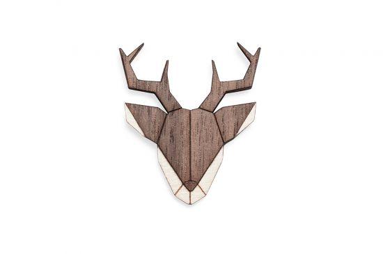 BeWooden - Deer Brooch